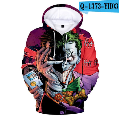 haha joker 3D Print Sweatshirt Hoodies Men and women - Mirage Novelty World