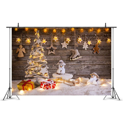 Christmas Party New Year Snow Gifts Photography Backgrounds Custom Photographic Backdrops For Photo Studio - Mirage Novelty World