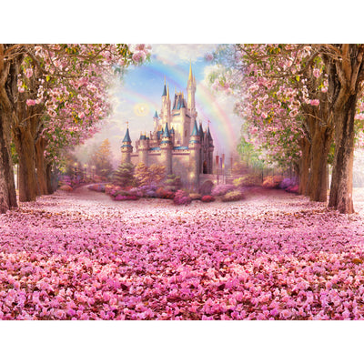 Fairy Tale Vinyl Photography Background Flower castle Backdrops for Photo Studio - Mirage Novelty World