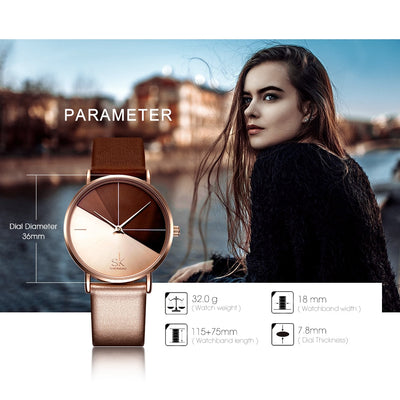 Women's Watches Fashion Leather Wrist Watch Ladies Watch Clock - Mirage Novelty World