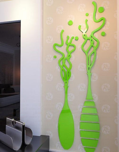 Abstract Double vase Acrylic crystal Wall stickers TV wallwaterproof mirror wall stickers - Mirage Novelty World