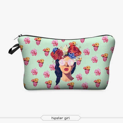Printing Makeup Bags With Multicolor Pattern Cute Cosmetics Pouchs For Travel Ladies Pouch Women Cosmetic Bag - Mirage Novelty World