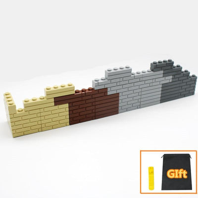 city part 1x4 bricks 15533 Houses wall Building blocks compatible Learning Classic DIY MOC Educational toy set - Mirage Novelty World