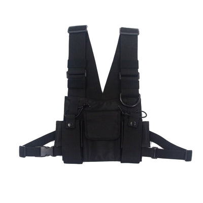 Fashion Nylon Chest Rig Bag Black Vest Hip Hop Streetwear Functional Tactical Harness Chest Rig Kanye West Wist Pack Chest Bag - Mirage Novelty World