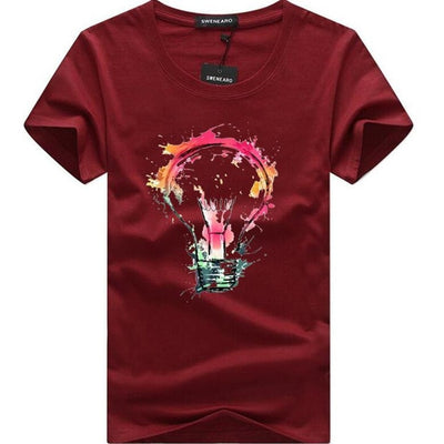 3D Bulb Print Men's T-shirts - Mirage Novelty World