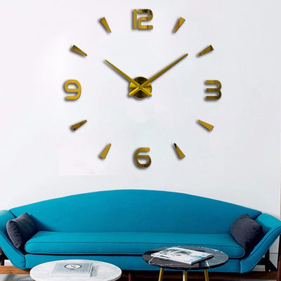 3D Wall Stickers Creative Fashion Living Room Clocks Large Wall Clock DIY Home Decoration Acrylic + EVA - Mirage Novelty World
