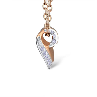 Gold Pendants For Women Authentic 14K 585 Rose Gold Sparkling Diamond Engagement Wedding Heart Pendant Fine Jewelry - Mirage Novelty World