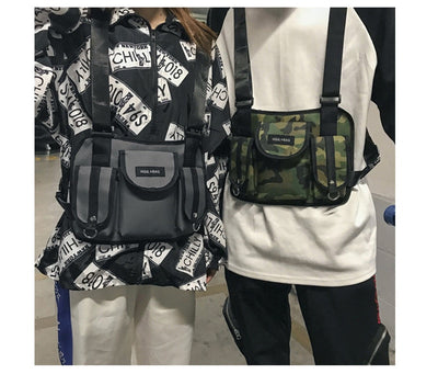 Men Chest Pack Rig Hip Hop Streetwear Unisex Cool Functional Tactical Shoulder Anti Theft Waist Bag - Mirage Novelty World