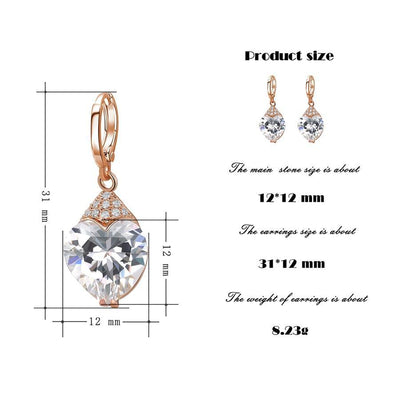 Fashion Luxury Earrings for Women Synthetic Cubic Zirconia Eardrops Jewelry Valentine's Day Gift - Mirage Novelty World