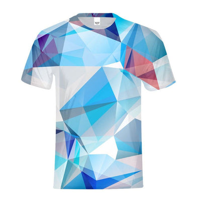 Cool Illusion Gradient Geometry 3D Printing Tshirt - Mirage Novelty World