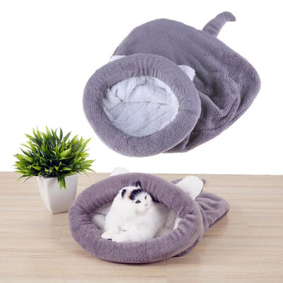 Pet Dog House Bed Cat Sleeping Bag Berber Fleece Warm Dog Cat Kennels - Mirage Novelty World
