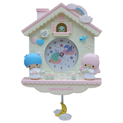 Novelty 12 Inch Cartoon  Hello Kitty  My melody Swing  Kids Girls Wall Quartz clock  Home Decro - Mirage Novelty World