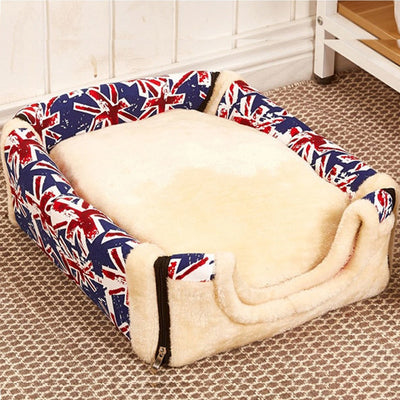 Multifunctional Cute Foldable Pet Cat Nest House Soft Comfortable Bed Cushion Kennel Dog Cat - Mirage Novelty World