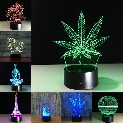 Maple Leaf 3D Visual Illusion Lamp - Mirage Novelty World