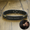 Personalized Men's ID Bracelets Two Tone Stainless Steel Black Link Bracelet Free Engraving Name or Initials His Nickname - Mirage Novelty World