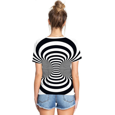 3d illusion psychedelic couple t shirt streetwear - Mirage Novelty World