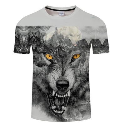 3D Illusion Fox Animal tshirts Men Streatwear - Mirage Novelty World