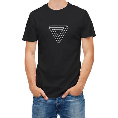 Triangle Optical Illusion  100 % Cotton T Shirts - Mirage Novelty World