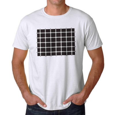 Illusion Dots Men's White T-shirt - Mirage Novelty World