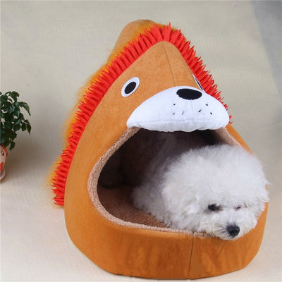 lion shape Pet Dog Cat House Tent Kennel Doggy Animal Bed - Mirage Novelty World