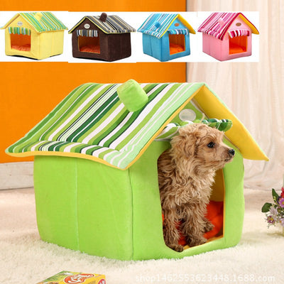 Soft Pet Cat Dog House Tent Kennel Doggy Warm Winter Cushion Animal - Mirage Novelty World