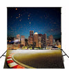 PPhotography Backdrop Urban Night 5x7 Glitter Starry Sky Lighting Buildings Backgrounds for Photo Studio Custom Photocall - Mirage Novelty World