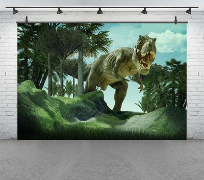 3D Dinosaur Forest Scenery Portrait Baby Children Photography Backgrounds Custom Photographic Backdrops For Photo Studio - Mirage Novelty World