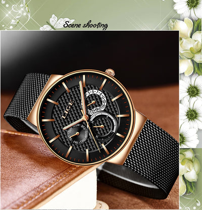 Women Fashion Watch Creative Lady Casual Watches Stainless Steel Mesh Band Stylish Desgin Luxury Quartz Watch