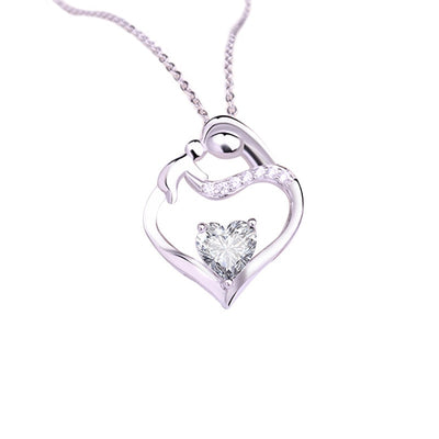 Exquisite 925 Sterling Silver Necklace Love Pendant Necklace Birthday Festival Gift - Mirage Novelty World