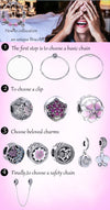 925 Sterling Silver Regal Love Key Dangle Charm Clear CZ Autumn Pendants Beads - Mirage Novelty World