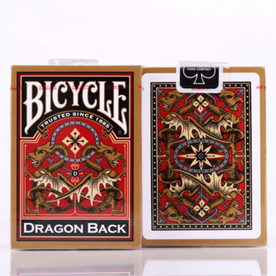 Bicycle Gold Dragon Back Playing Cards Golden Edition Poker Magic Deck Magic Tricks - Mirage Novelty World
