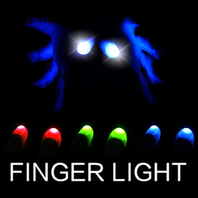 1 Pair Thumbs Led Light Up Magic Tricks ( Red Blue Green ) Big Size Soft Thumb Tips With LED Magic - Mirage Novelty World