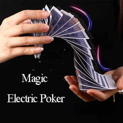 Magic Electric Poker Magician Tools Interesting Amazing Super Waterfall Card Automatic Poker Magic - Mirage Novelty World