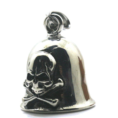 316L Stainless Polishing Silver Skull Toxic Sign Cool Jingle Bell Pendant - Mirage Novelty World