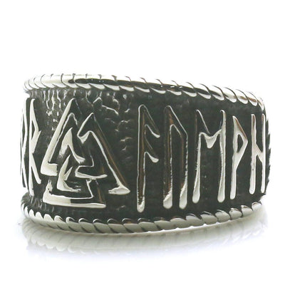 Men Boy 316L Stainless Steel Northern Europe Vikings Silver Ring - Mirage Novelty World