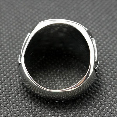 316L Stainless Steel Silver Polishing Cool Polishing Biker Silver Ring - Mirage Novelty World