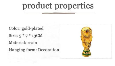 Creative Football Trophy Cup trophy fans souvenirs Resin Craft Gift champion Creative World Cup Trophy - Mirage Novelty World