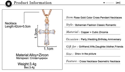 Women Necklace with Crystal Pendant Cubic Zirconia Jewelry