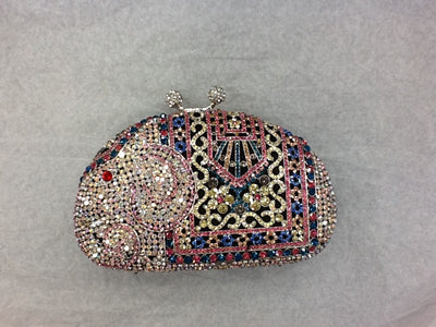 Luxury Elephant Gold Clutch Bag with High Quality Crystal