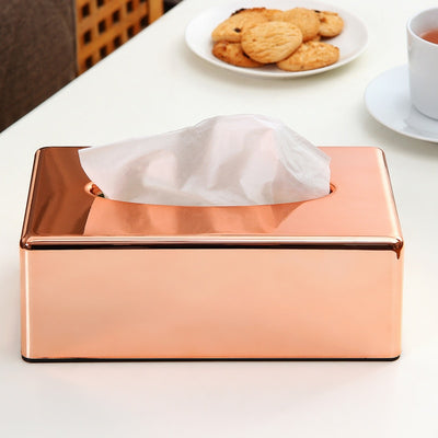 Tissue Box with Elegant Royal Rose Gold Color