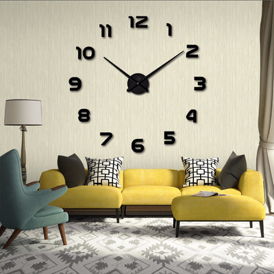 New Wall Clocks with Large Size DIY Digital Wall Sticker