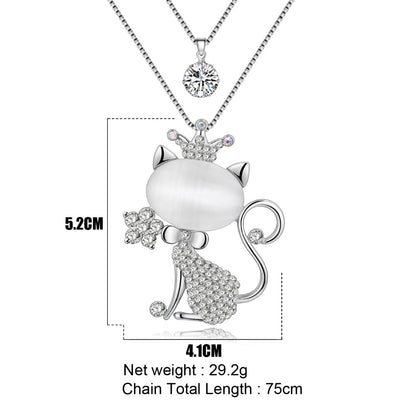 Cute Cat Necklace with Fashion Jewelry For Women