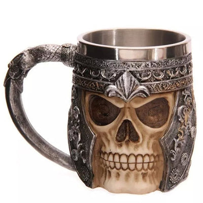 Coolest Gothic Resin Stainless Steel Beer Glasses for Mugs Coffee Cup Drinking Glasses
