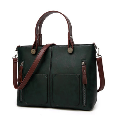 Vintage Women Handbags with High Quality Leather