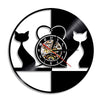 Vinyl Wall Clocks with LED Light Cat Wall Clocks