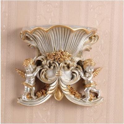 European Resin Wall Vase Craft with Vintage Ancient Style for Decor