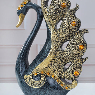European Luxury Resin Swan Craft for Home Decor Ornament