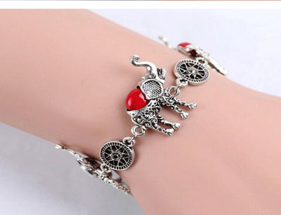 Cute Elephant Silver Pendant Jewelry with Elephant Necklace, Bracelet and Earring