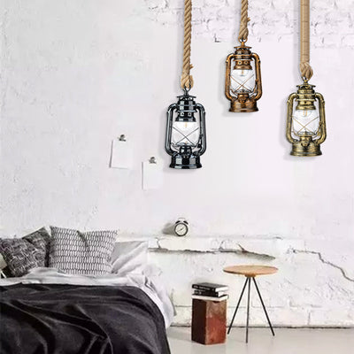 Vintage Kerosene Pendant Lights with E27 LED Bulb