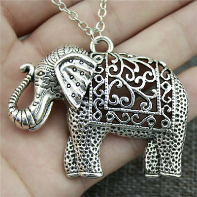 Elephant Necklace with Fashion Antique Silver Jewelry
